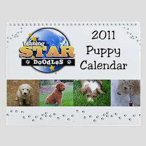 Blazing Star Doodles Puppy Wall Calendar for 2011