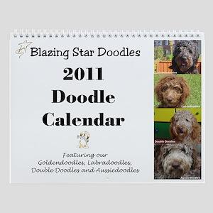 Blazing Star Doodles Wall Calendar