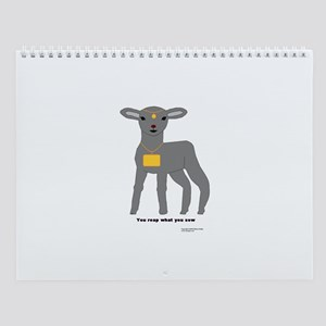 Gray Lamb Wall Calendar