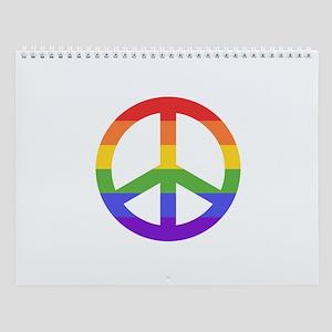 Rainbow Peace Sign Wall Calendar