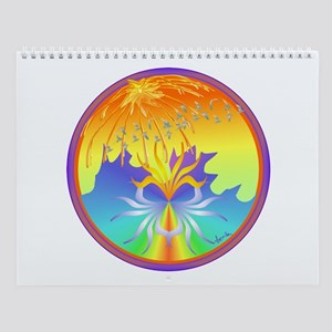 Sunset Healing OM Mandala Wall Calendar