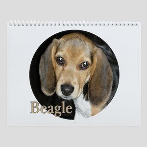Close Up Beagle Puppy Wall Calendar