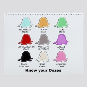 Know your Oozes Wall Calendar