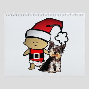 Santa Baby with Yorkie Wall Calendar