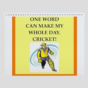Cricket Wall Calendar