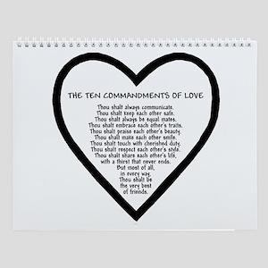 Ten Commandments of Love Wall Calendar