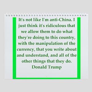 Donald Trump Quote Wall Calendar