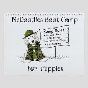 Mcdoodles Boot Camp Logo Wall Calendar
