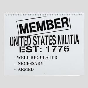 militia Wall Calendar