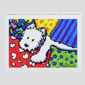 KiniArt Westies Wall Calendar
