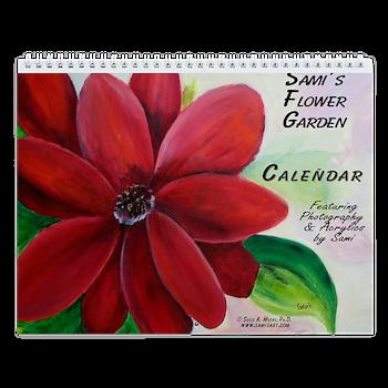 Sami's Flower Garden Wall Calendar