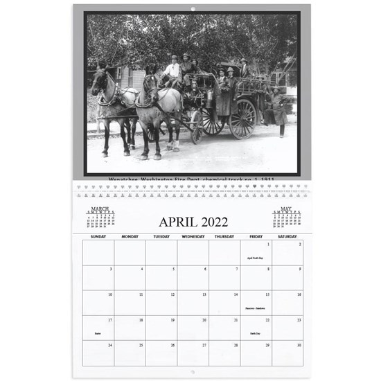 american fire engines calendar cover