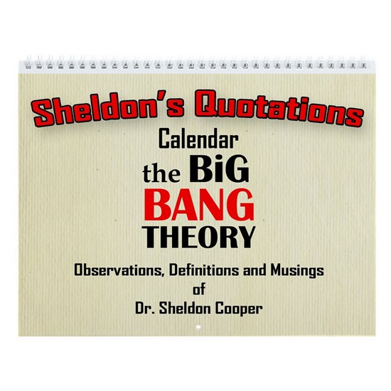 Calendar  Cover  Sheldons quotes copy