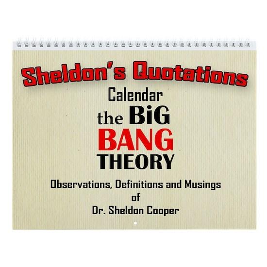 Calendar  Cover  Sheldons quotes copy