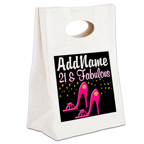 AWESOME 21ST Canvas Lunch Tote