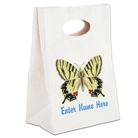 Personalized Butterfly Canvas Lunch Tote
