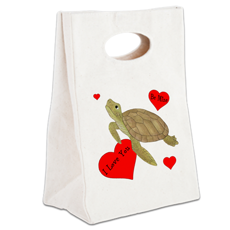 Personalized Turtle Canvas Lunch Tote