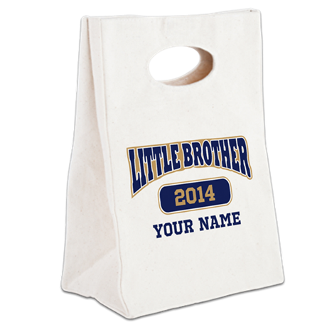 Custom Little Brother Canvas Lunch Tote