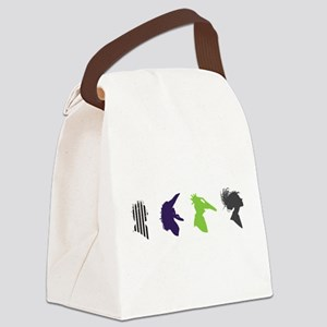 beetlejuice Silhouettes Canvas Lunch Bag