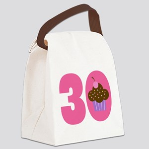 30th Birthday Cupcake Canvas Lunch Bag