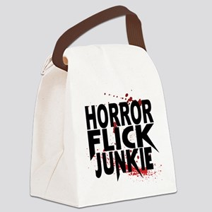 Horror Flick Junkie Canvas Lunch Bag