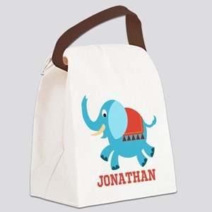 Elephant (p) Canvas Lunch Bag