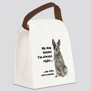 Cattle Dog v Wife Canvas Lunch Bag