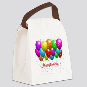 Happy Birthday Balloons Canvas Lunch Bag