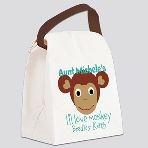 Personalize Love monkey Canvas Lunch Bag