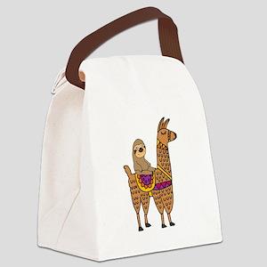 792f8464f5d0 Funny Llama Canvas Lunch Bags - CafePress