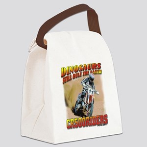 CR500Riders dino print Canvas Lunch Bag