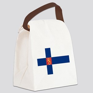 State Flag of Finland Canvas Lunch Bag