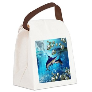 83af333f2c3b Awesome underwater world Canvas Lunch Bag
