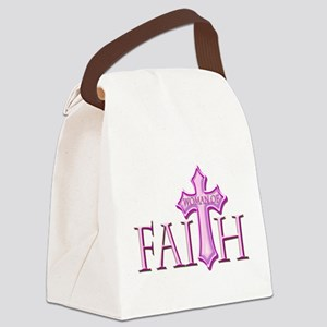 Woman of Faith Canvas Lunch Bag