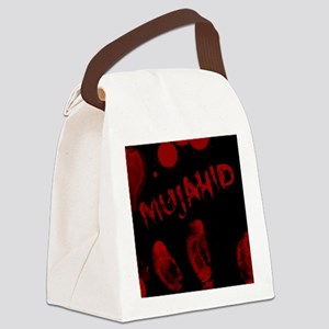 Mujahid, Bloody Handprint, Horror Canvas Lunch Bag