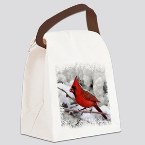 christmascardinal Canvas Lunch Bag