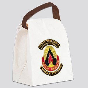 38th Support Group with Text Canvas Lunch Bag