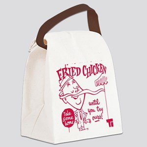 Retro Fried Chicken Canvas Lunch Bag