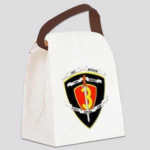SSI - 1st Battalion - 3rd Marines Canvas Lunch Bag