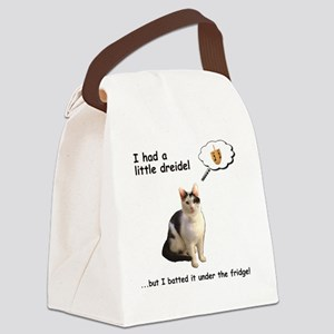 Hannukah Dreidel Cat Canvas Lunch Bag