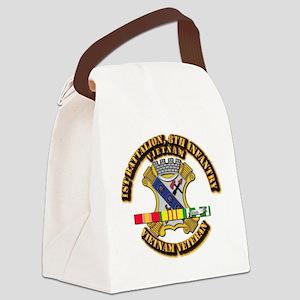 1st Battalion, 6th Infantry Canvas Lunch Bag