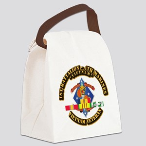 1st Bn - 4th Marines w VN SVC Ribbon Canvas Lunch