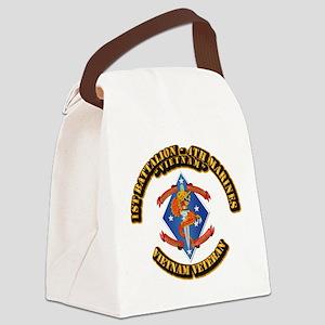 1st Bn - 4th Marines Canvas Lunch Bag