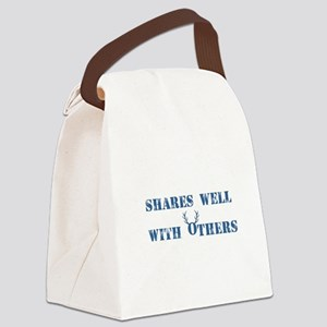 Shares well with others Canvas Lunch Bag