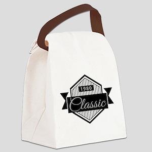 Birthday Born 1980 Classic Editio Canvas Lunch Bag