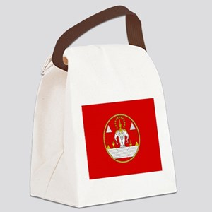 Laotian Royal Coat of Arms Canvas Lunch Bag