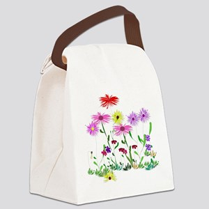 Flower Bunch Canvas Lunch Bag