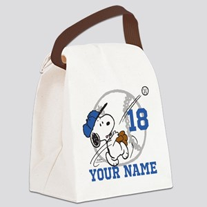 Snoopy Baseball - Personalized Canvas Lunch Bag