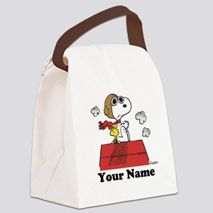 Peanuts Flying Ace Personalized Canvas Lunch Bag