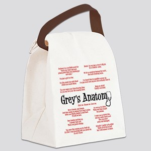 Grey's Anatomy Quotes Canvas Lunch Bag
